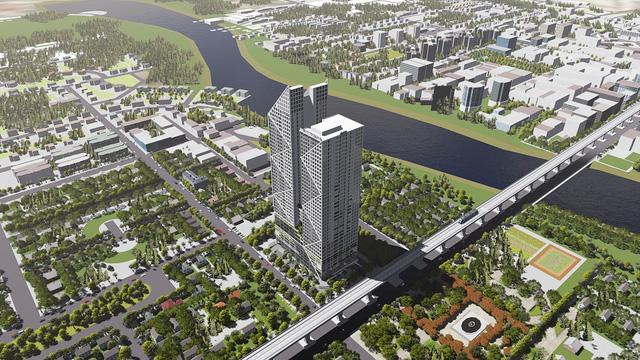 Hatay Millennium gồm 2 tháp cao 44 tầng nổi và 3 tầng hầm.
