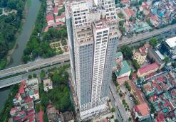 Hình ảnh thực tế tòa tháp Thiên Niên Kỷ từ trên cao sắp bàn giao