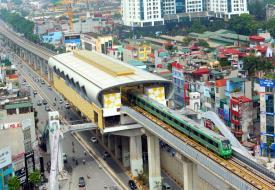 Chạy thử tuyến đường sắt Cát Linh - Hà Đông