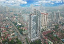 Tòa tháp 44 tầng ở trung tâm Hà Đông sắp bàn giao